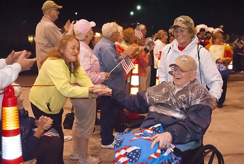 U.P. Honor Flight returns home
