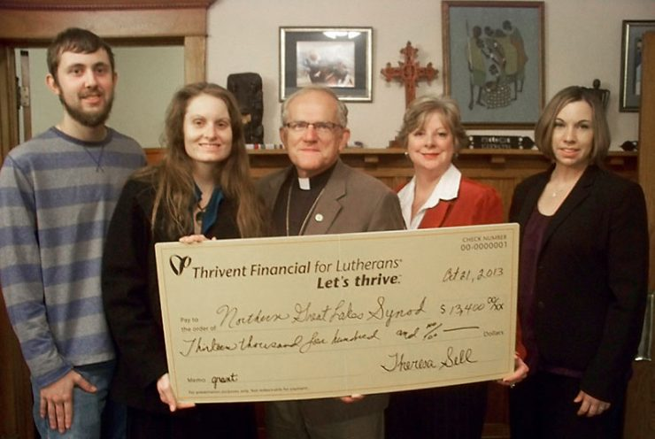 Thrivent Financial presents check to Earthkeepers