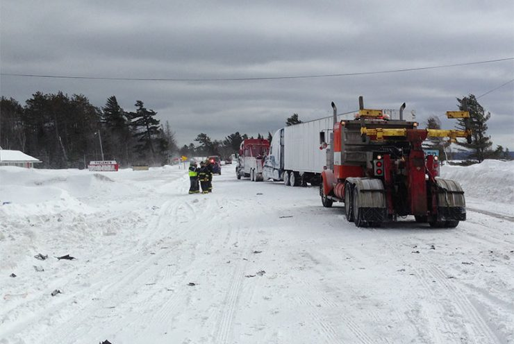 Whiteout conditions, multiple vehicle accident closes U.S. 2
