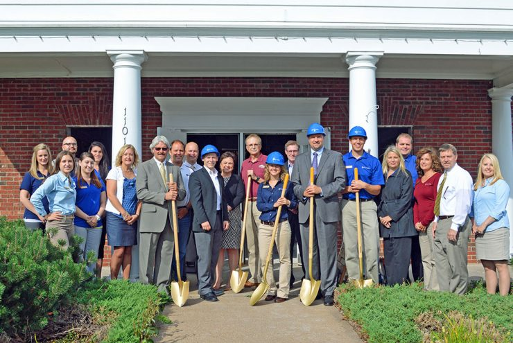Groundbreaking for renovation to River Valley Bank in Marquette