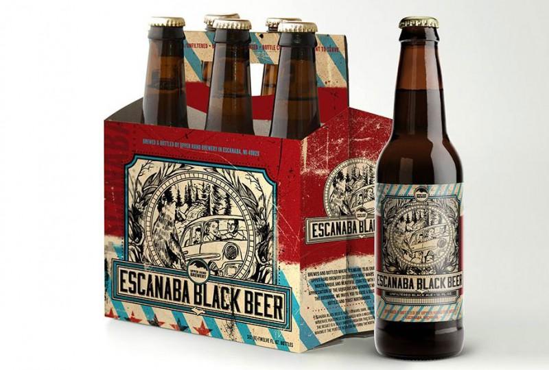Escanaba Black Ale (Michigan)-4.5% ABV