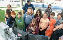 State police display equipment at Gladstone Post open house