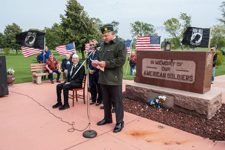 Son pays tribute to father at POW/MIA Recogition Day program