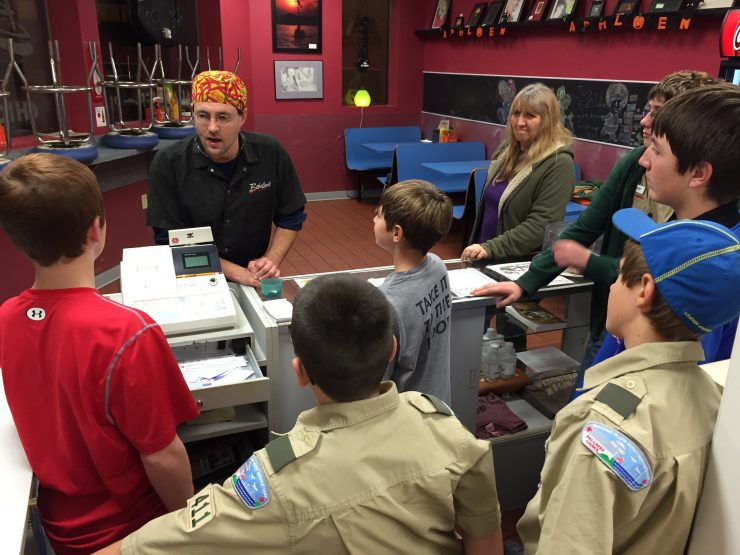 Scouts learn what it's like to operate a restaurant in Escanaba