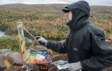 En plein air artists capture fall color at Lake of the Clouds