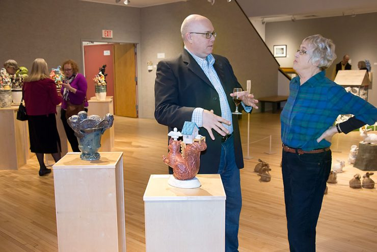 Leipski tells stories at Bonifas exhibit with clay creations