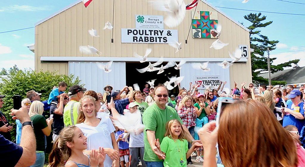 Dove release delights visitors at U.P. State Fair