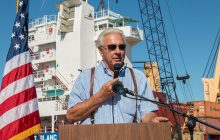 First Ship Ceremony held at North Shore Marine in Escanaba