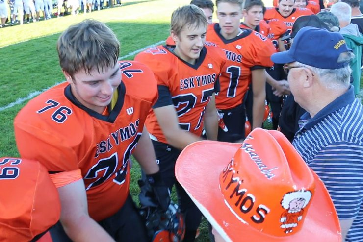 Veterans honored at Escanaba High School football game