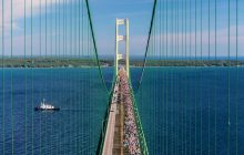 Thousands cross Mackinac Bridge at Labor Day walk