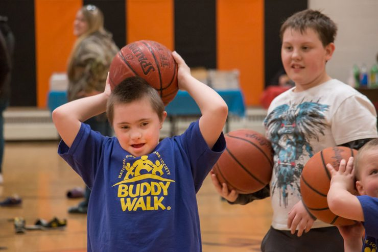 Bright socks, fun activities call attention to Down syndrome