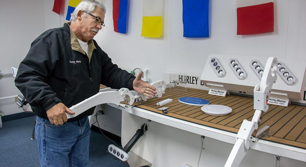 Hurley Marine's dingy davits find niche in boating market