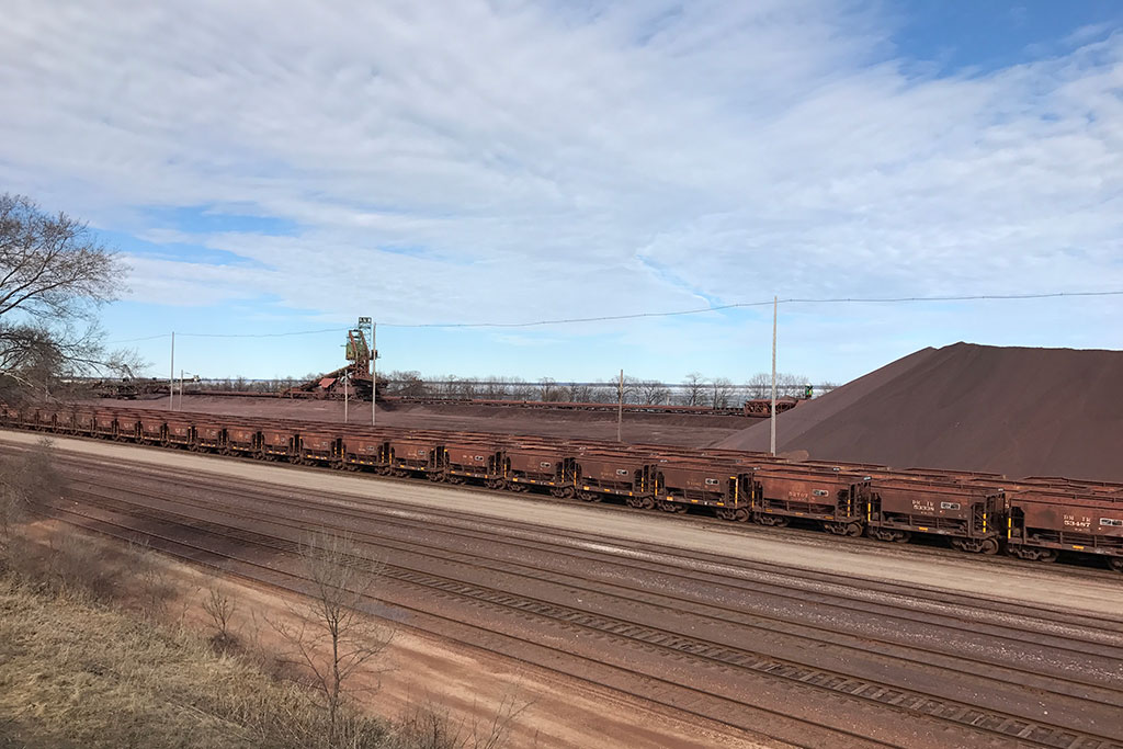 CN Iron Ore Dock in Escanaba