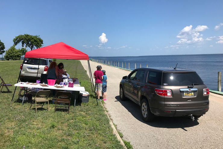 Drive open at Municipal Dock in Escanaba for Golf Ball Drop fundraiser