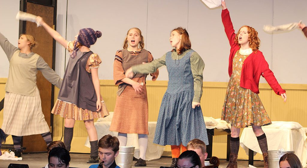 Students develop their characters for Escanaba's musical 'Annie'