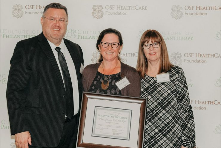 Johnson recognized as Culture of Philanthropy Honoree at OSF
