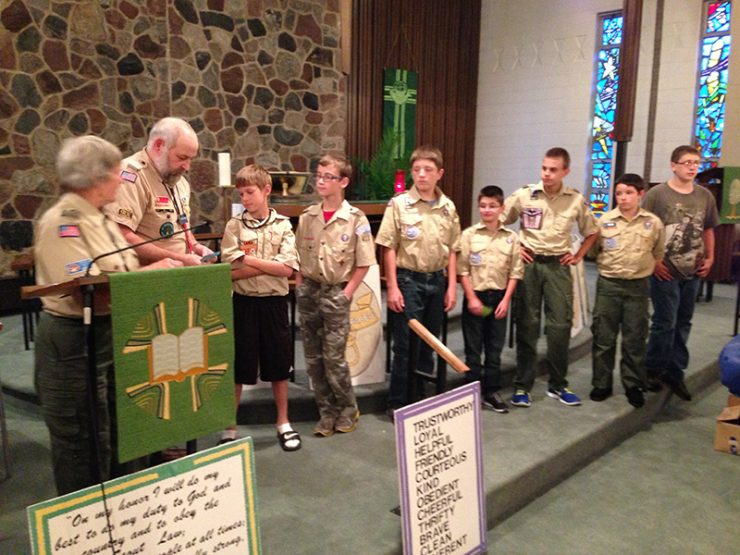 Scouts receive awards at Troop 411 Court of Honor
