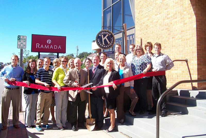 Attending the Ramada Inn's 40th celebration (from left to right - first row) Alex Knudson, LSCP Business Services Representative, Betsy Morais, LSCP Director of Marketing and Communications, Hunter Larson, Son of Randy Larson, Stacy Larson, Wife of Randy Larson, Randy Larson, Owner and General Manager, Tim Larson, Owner, Dee Dee Larson, Wife of Tim Larson, Deb Larson, Nola Matson and Derek Bush, LSCP Business Development Representative. (Second row) Todd Horton, Chris VanAbel, Marquette County Ambassador, Michelle Sellers, Candy Fletcher, Joanna Emigh, Samantha Chen, Ed O'Brien, Rick Peterson and Maggie Mahoney.