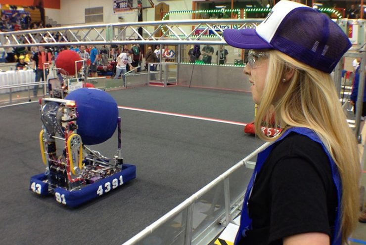 Human players have a role in FIRST Robotics District Competition