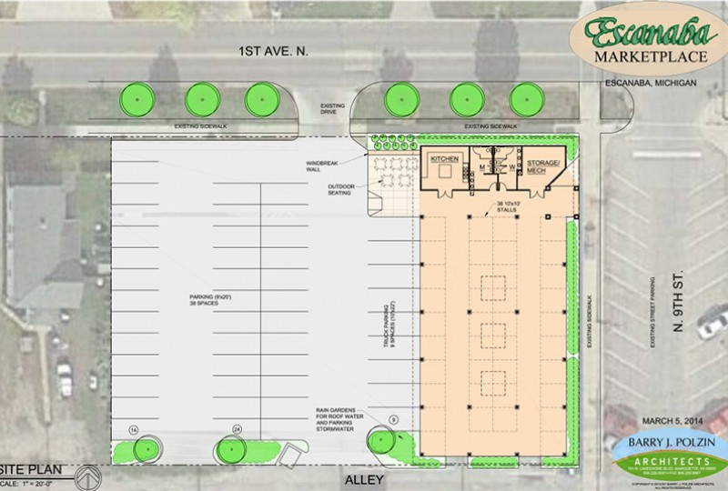 Escanaba's proposed city marketplace