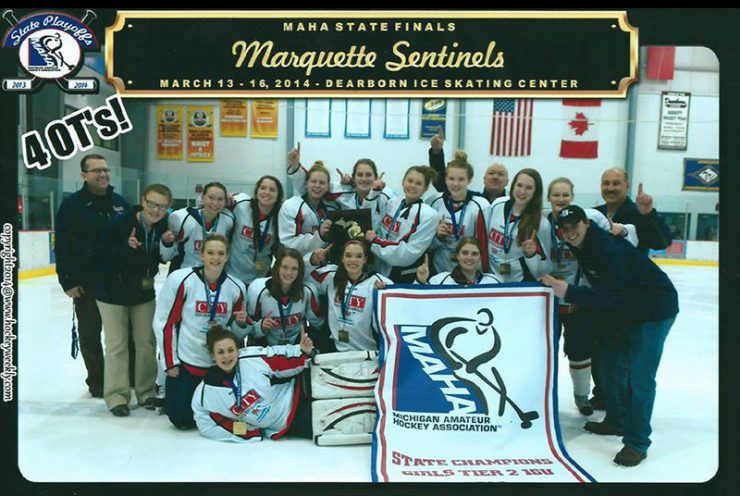 Marquette Sentinels Girls Hockey Team heads to nationals