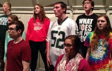 Escanaba High School Chorale sings 'April' for composer