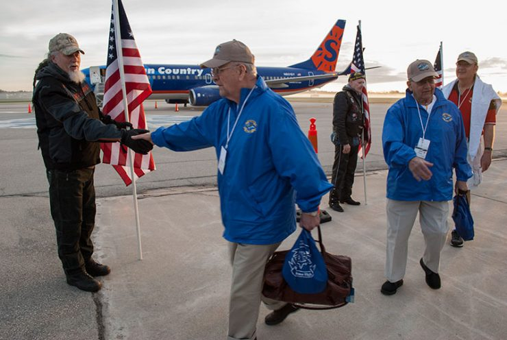 U.P. Honor Flight takes off from the Delta County Airport