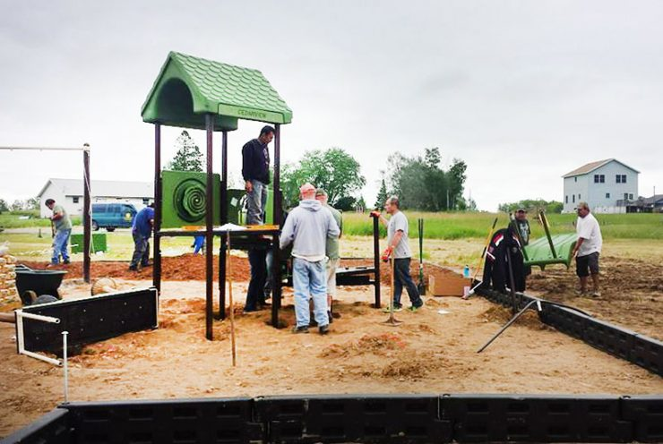 Playground park built in one day at Hannahville Indian Community