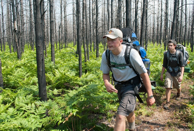 Backpacking North Country Trail through Duck Lake Fire