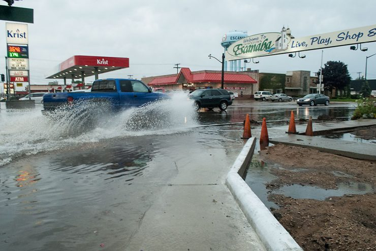 Heavy rains, thunderstorms cause flooding in parts of the Upper Peninsula