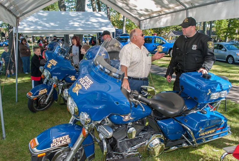 Students, seniors learn about state police at open house