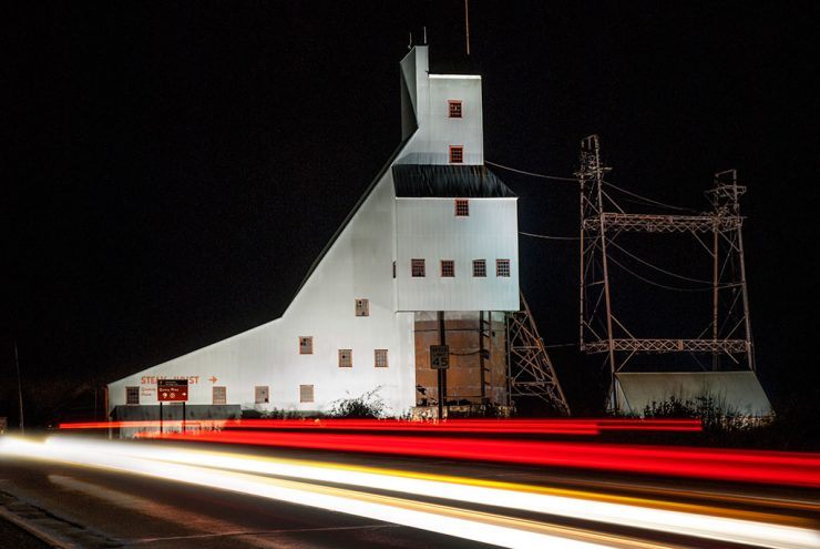 Quincy Mine shafthouse lighting program supports smelter purchase