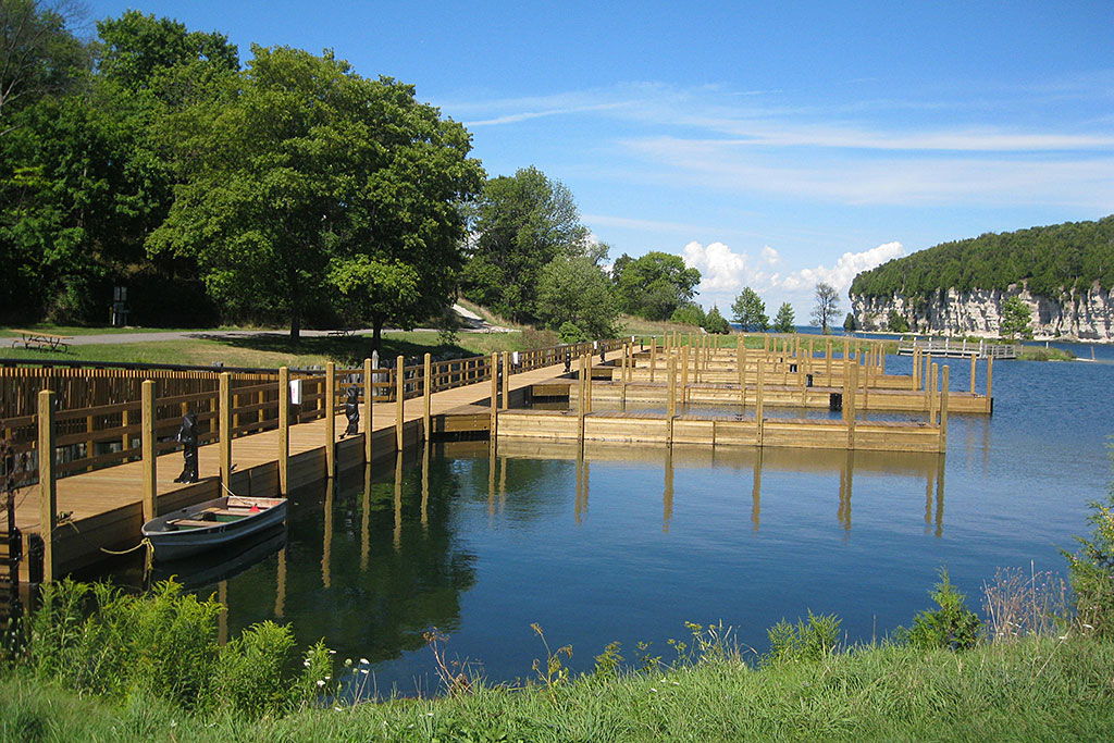 New boat dock opens at Fayette Historic State Park