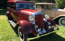 Antique vehicles displayed at Rock Labor Day celebration