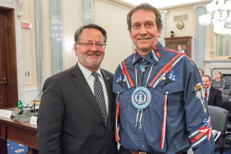 Peters hosts Keweenaw Bay Indian Community President at U.S. Senate hearing